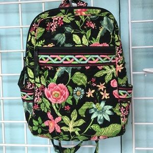 Vera Bradley Black Floral Backpack