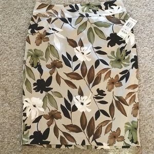 NEW charter club skirt size 6 gorgeous fall colors