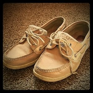 Tan/Plaid Sperry Topsider Size 8m
