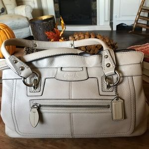 Beautiful Bone Leather Coach bag