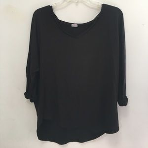Tresics black 3/4 length sleeve top