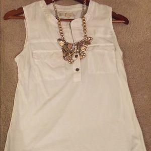 White sleeveless top size small