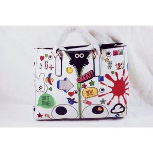 Women Handbag Set for Casual White (Colorful)