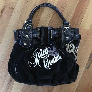 Juicy couture black velour handbag