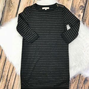 Ann Taylor LOFT Striped Long sleeve dress SP