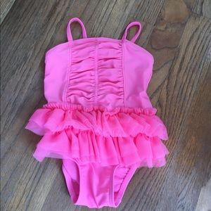 Adorable ruffle swim suit! Worn once