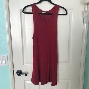 maroon tank top dress