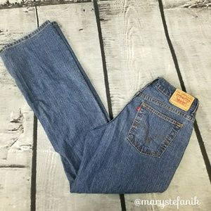 Levi's 550 Relaxed Boot Cut Jeans size 10L