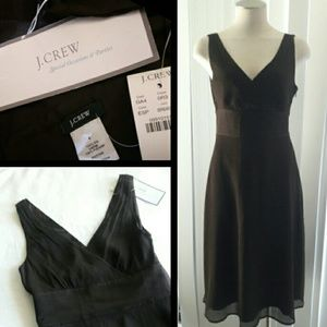 J.Crew Silk Crepe Brown Special Occasions Dress