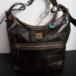 Dooney & Bourke croc leather hobo handbag