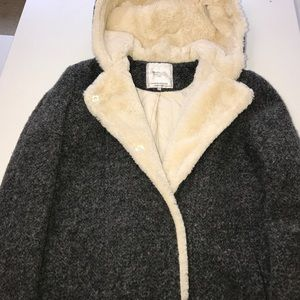 Zara Warm Wool with Fur Lined Coat