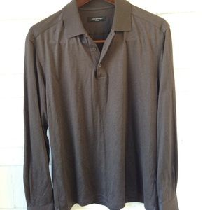 Ermenegildo Zegna silk polo men's medium
