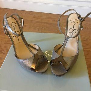 Jessica Simpson taupe heels.