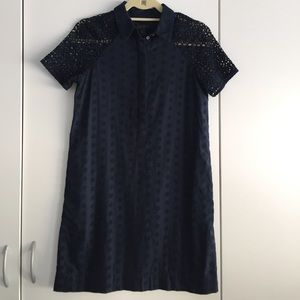 Cute Navy Blue J Crew Dress