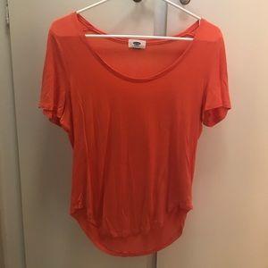 Vibrant orange soft top