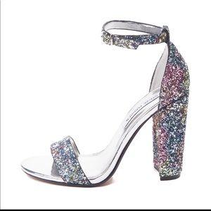 Heeled Glitter Sandals