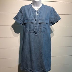 J. Crew Short Sleeve Chambray Dress