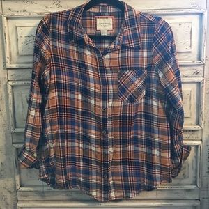 PLAID! Blue and Pink Blouse
