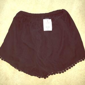 Brandy Melville crochet shorts