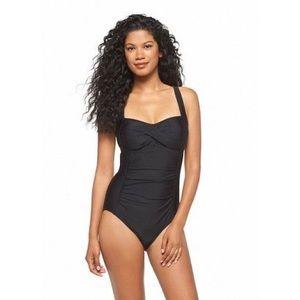 aefa9a9772 Merona Swim - Black Onepiece Swimsuit