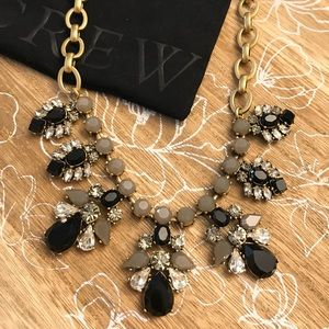 J.CREW crystal and carved stone necklace
