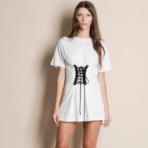 Corset Tie Front Tunic / Dress