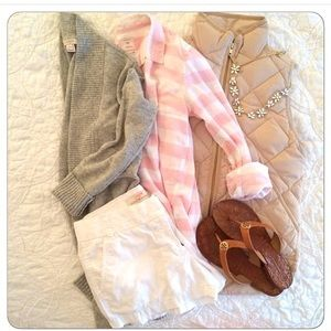 Gap Pink and White button down