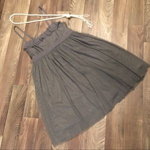 Gauzy Gray Dress - Sleeveless w Adjustable Straps