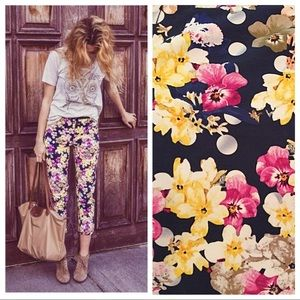 Anthropologie Cartonnier Charlie Floral Trousers