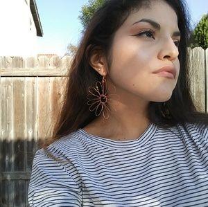 Jewelry - 🌹 Rose Gold Flower Earrings