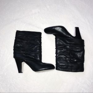 Seychelles ruched fold over heeled booties | 7.5