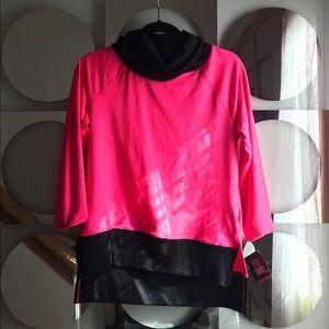 VSX Sport Pink Cowl Spandex Longsleeve Pullover XS