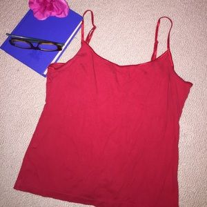 VS solid red tank top L