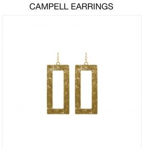 Towne and Reese Gold Campbell Earrings NWOT