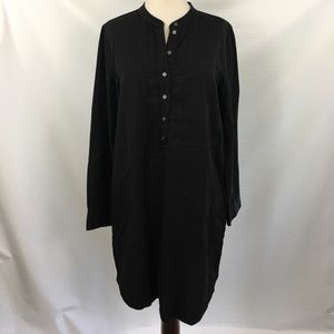 Lou & Grey Black Shirt Dress Sz M