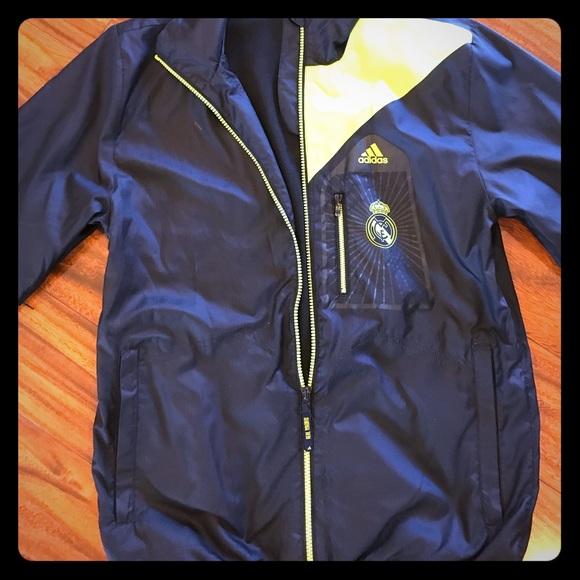 9d8f2e3b1e31 Navy Adidas Real Madrid light weight jacket