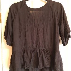 ASOS peplum blouse, size small. NEW with tags