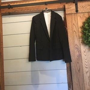 Express size 10 euc black blazer polka dot inside