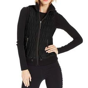 Calvin Klein Ribbed-Knit Quilted Puffer Vest