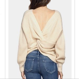 Sweaters - Beige Back Twist Knit Sweater
