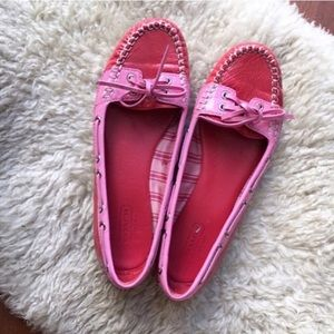 {Coach} Percy Patent Leather Boat Flat 6