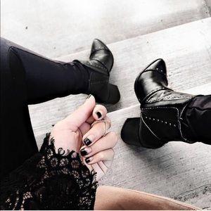 Black Studded Boot