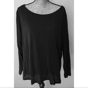 Lane Bryant Black Stretch Layered Blouse 22/24