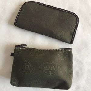 Dooney and Bourke cosmetic case and eye glass case