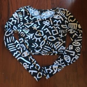 Keith haring style crop top