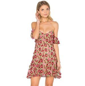 For Love and Lemons Amelia Strapless Mini Dress