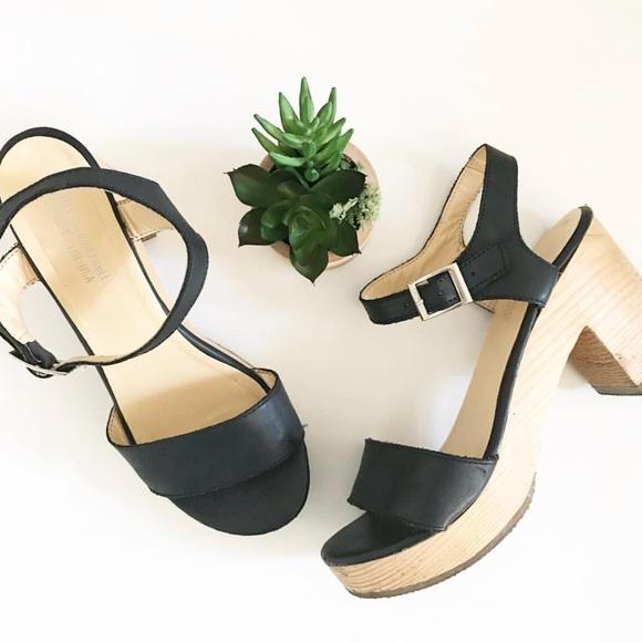 ef9307f6dee American Apparel Shoes - American Apparel Wooden Heel Sandal