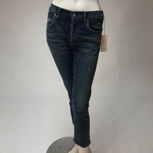 Citizens Elsa Mid Rise Slim Fit Crop Jeans NWT