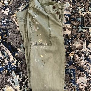 J. Crew distressed painted cargo pants