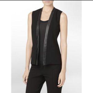 Calvin Klein Leather Trim Vest